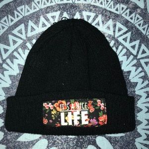It's a Nice Life Black Tilly's Beanie